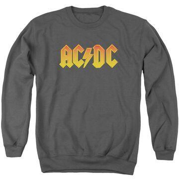 ACDC118-AS-4 ACDC Logo-Adult Crewneck Sweatshirt, Charcoal - Extra Large