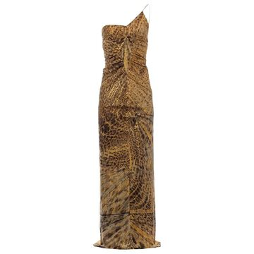 Roberto Cavalli Gold Silk Dresses