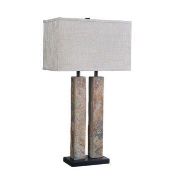 Design Craft Dayton Natural Slate 30-inch Table Lamp (Natural Slate)