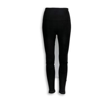 Spanx Leggings Sz M Seamless with Side Zipper Black A297851