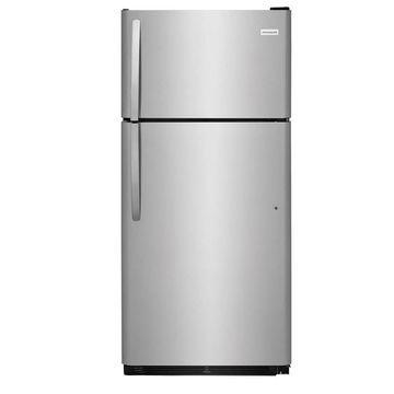 Frigidaire 18-cu ft Top-Freezer Refrigerator (EasyCare Stainless Steel)