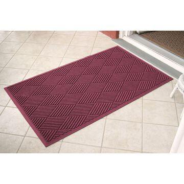 Bungalow Flooring 3-ft x 5-ft Bordeaux Rectangular Indoor or Outdoor Door Mat in Red   844600035