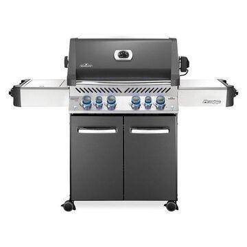 Prestige 500 Grill On Cart w/ IR Rotisserie & Side Burner, Charcoal Gr