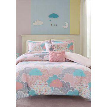 Jla Home Soft Pink Cloud Duvet Cover Set - -