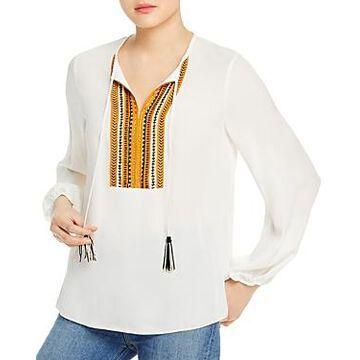 Kobi Halperin Cora Silk Embellished Blouse