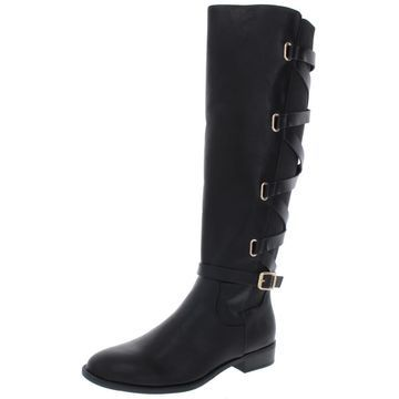 Thalia Sodi Womens Veronika Faux Leather Riding Knee-High Boots