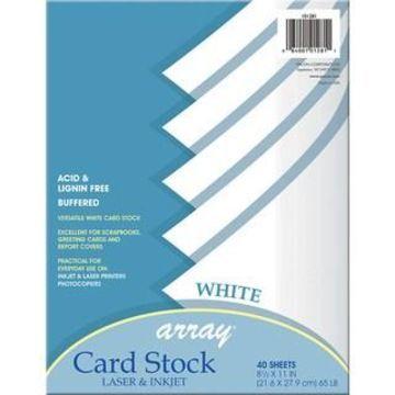 Array White Card Stock, 6 Packs