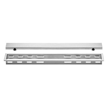 Schluter Systems Kerdi-Line Brushed Stainless Steel Stainless Steel Shower Drain   KL1AR30EB110