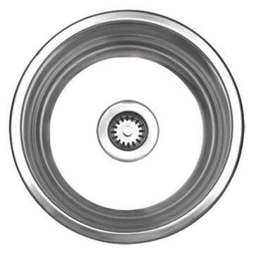 Whitehaus WHNDB16 Stainless Steel Large Round Drop-In Kitchen Sink
