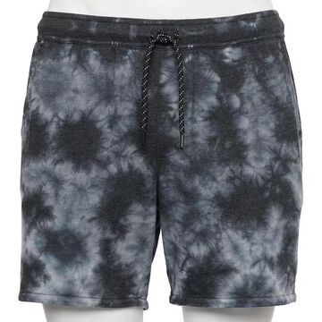 Men's Urban Pipeline Tie-Dye French Terry Shorts, Size: Small, Black