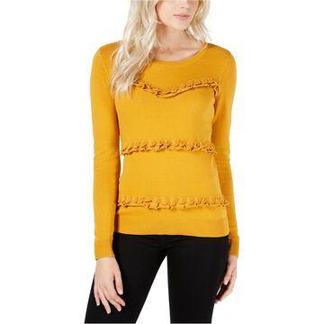 maison Jules Womens Ruffled Pullover Sweater