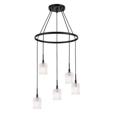 Woodbridge Lighting Candice Chandelier, Frosted Square