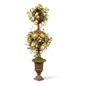 National Tree Company Artificial Two Ball Easter Topiary Floor Decor