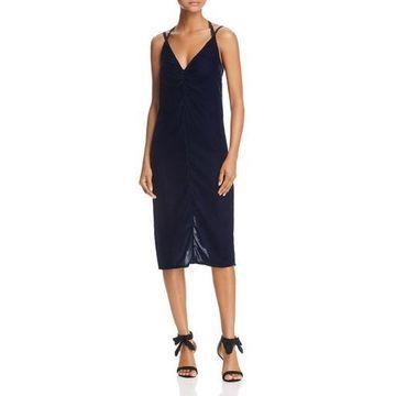 Ella Moss Womens Serene Velvet Midi Slip Dress