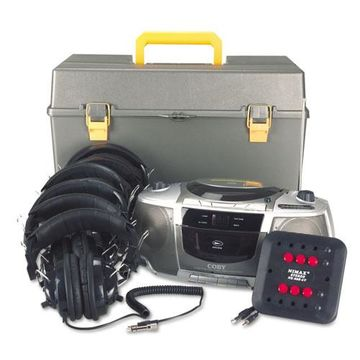 Amplivox Listening Center with Bluetooth CD Boombox with AM /FM Radio