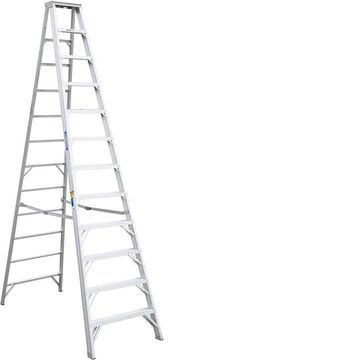 Werner 12-ft Aluminum Type 1AA - 375 lbs Capacity Step Ladder