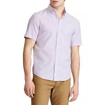 Chaps Men's Go Untucked Short Sleeve Linen Shirt - -