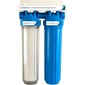 Pentair Whole House Dual-Stage 5-GPM Carbon Block Whole House Water Filtration System in Blue   PC200-P