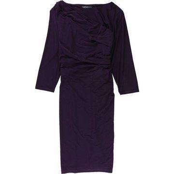 American Living Womens Pleated Sheath Dress