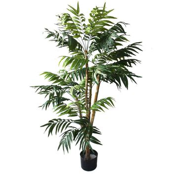 5 Foot Artificial Palm Tree Large Faux Potted Tropical Plant for Indoor or Outdoor Decoration by Pure Garden