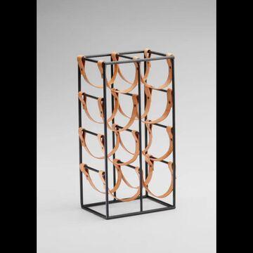 "Cyan Design 04915 17.25"" Wine Rack Raw Steel Kitchenwares Organization Wine Racks"