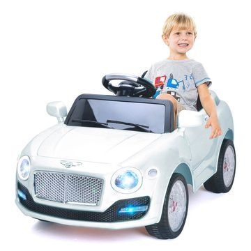 Costway 6V Kids Ride On Car Electric Battery Power RC Remote Control & Doors MP3 White