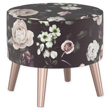 Skyline Furniture Brooker Ottoman in Purple