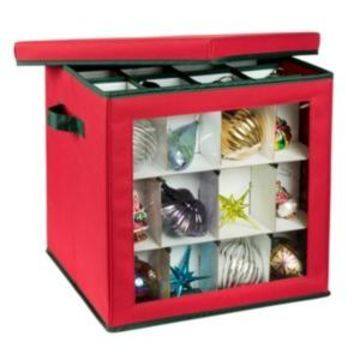Honey Can Do 48-Count Ornament Storage Container