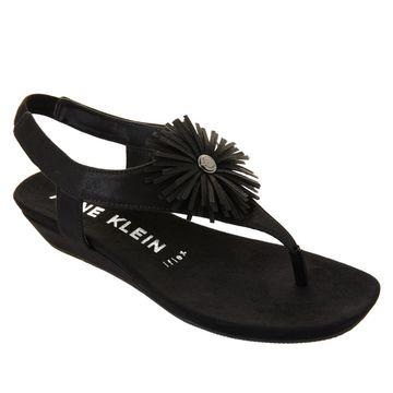 As Is Anne Klein Isotta Demi-Wedge Thong Sandal