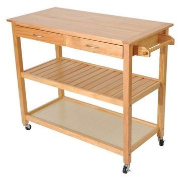 45 Wood Kitchen Utility Trolley Island Cart