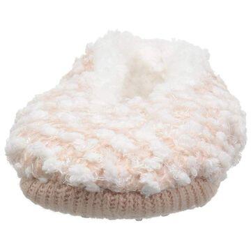 Dearfoams Women's Ballerina Slipper Sock Popcorn Knit