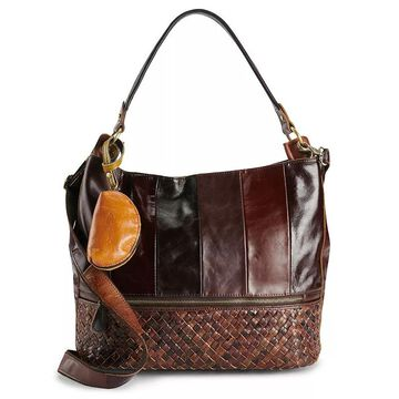AmeriLeather Colton Leather Shoulder Bag and Coin Pouch Set, Brown