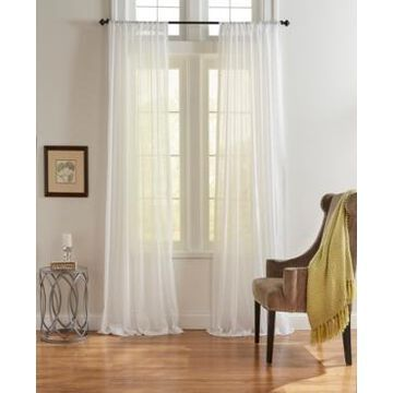 Elrene Asher Cotton Voile Sheer Window Curtain