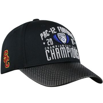 USC Trojans Top of the World 2017 PAC-12 Football Conference Champions Locker Room Adjustable Hat - Black
