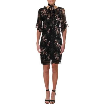 Taylor Womens Chiffon Floral Party Dress