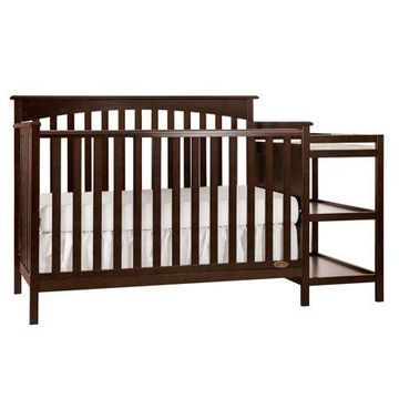 Dream on Me Chloe 5-in-1 Convertible Crib with Changer,Espresso