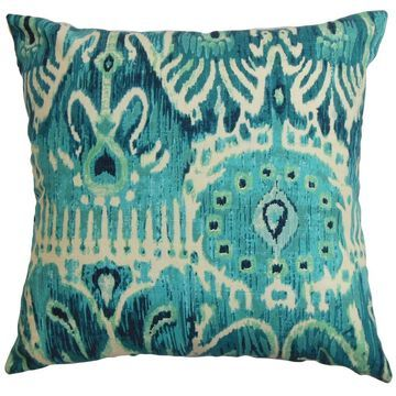 Haestingas Ikat Floor Pillow Blue