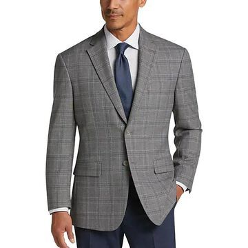 Pronto Uomo Platinum Men's Modern Fit Sport Coat Gray Plaid - Size: 40 Short - Only Available at Men's Wearhouse