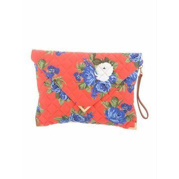 Msgm Floral Print Envelope Clutch w/ Tags Blue Msgm Floral Print Envelope Clutch w/ Tags