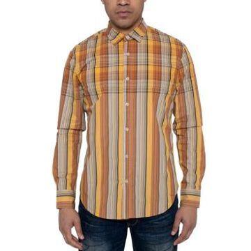 Sean John Men's Oversize Repeat Plaid Shirt
