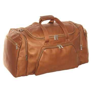 Piel Leather 21-inch Carry On Sports Duffel (Brown)