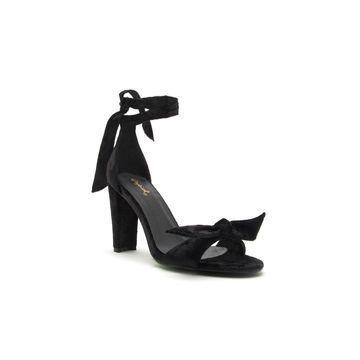 Qupid Womens Goodney-01 Heeled Sandals
