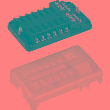 Sea-Dog 445188-1 Blade Style LED Indicator Fuse Block with Negative Bus Bar - 12 Circuit