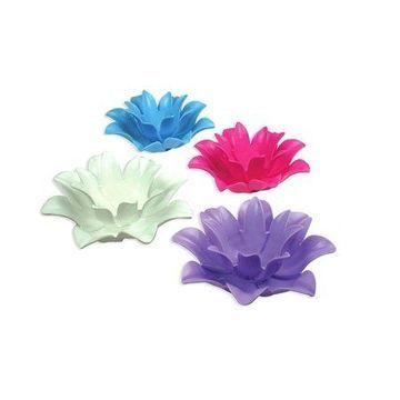 Poolmaster 9.75 Inch Floating Lotus Blooms Flower Swimming Pool Lights (4 Pack)