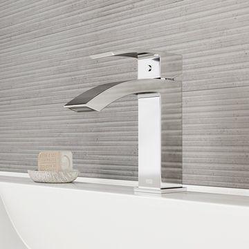 VIGO Satro Chrome Single Hole Bathroom Faucet