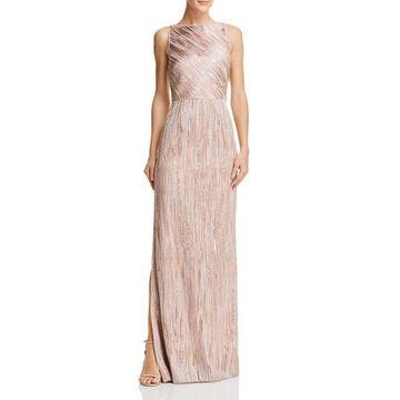 Aidan Mattox Womens Embellished Sheath Formal Dress