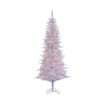 Sterling 7.5 Ft. White Tiffany Tinsel Tree with 450 clear lights