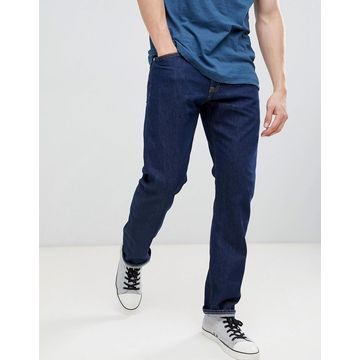 Calvin Klein Jeans rinse straight jeans with logo back patch-Blue