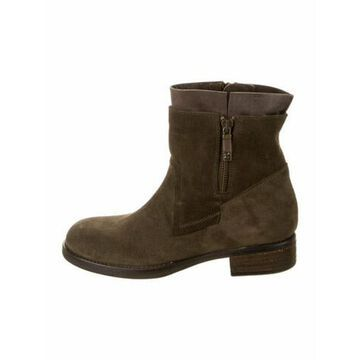 Poppi Suede Moto Boots Grey