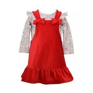 Bonnie Jean Girls' Toddler Girls Velour Jumper Dress - -